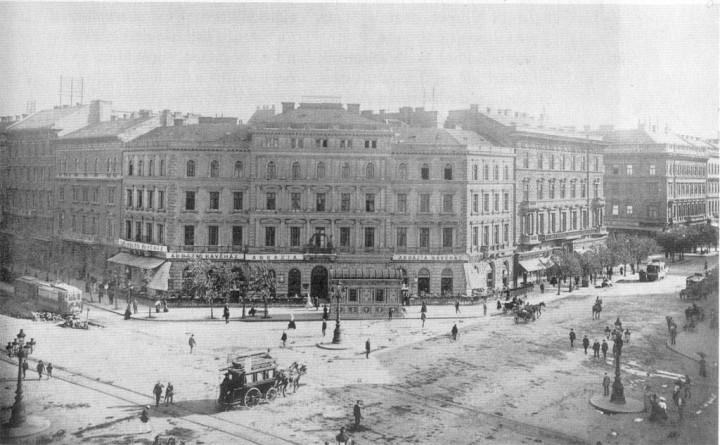 Abbázia kávéház az Oktogonon (1900 körül)