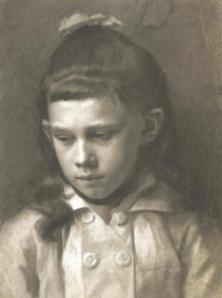 Gustav Klimt: Lány portré (forrás: klimt.com)
