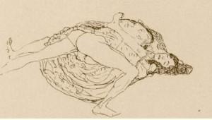 Szerelmespár  - Gustav Klimt, 1914 (forrás:yourartshop-noldenh.com)