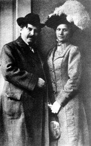 Móricz és első felesége, Janka