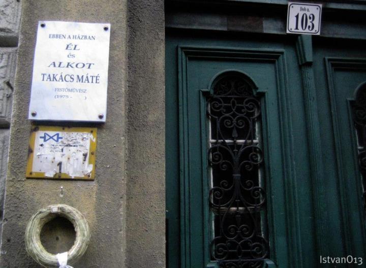 Takács Máté emléktáblája (fotó: Ocztos István)