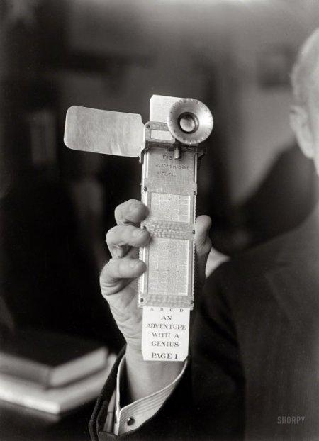 Korabeli ebook reader 1922-ből. (forrás: www.shorpy.com)