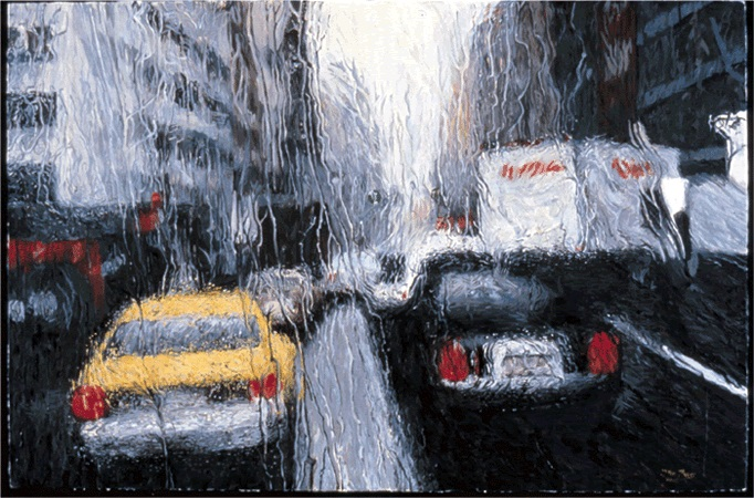 Clifford Elgin: Car in Rain