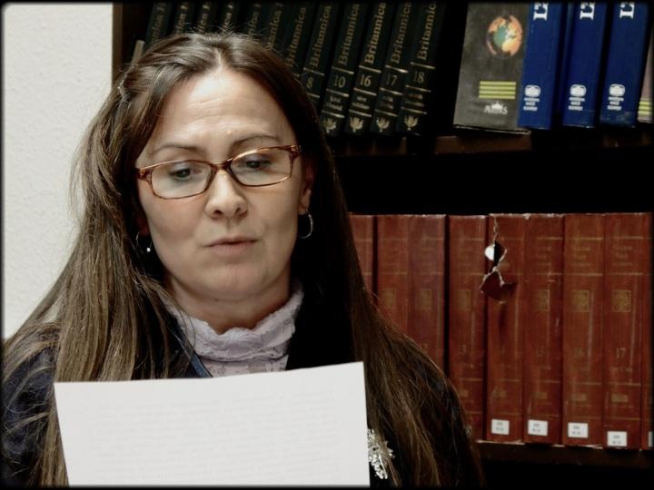 Halász Margit felolvas a Vidróczki-kódexből (fotó: Németh Kriszta)