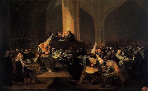 Francisco Goya: Az inkvizíció törvényszéke (1812-19 k.)