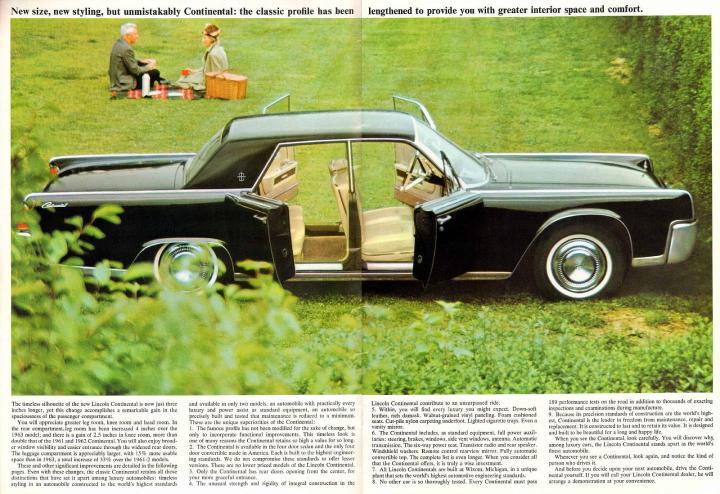 Lincoln Continental újsághirdetés