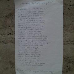 Talált vers! - Kiss Gabriella fényképezte le Kosztolányi Dezső versét, amit a Király utcában talált Budapesten