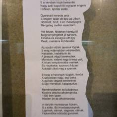 József Attila verse, Pilisi Emilia fényképe