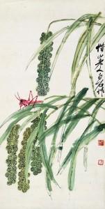 Qi Baishi: Sáska gabonakalászon