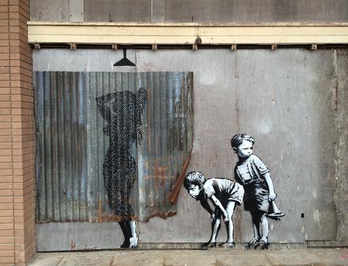 Banksy street art - Dismaland (Fotó: Christopher Jobson)