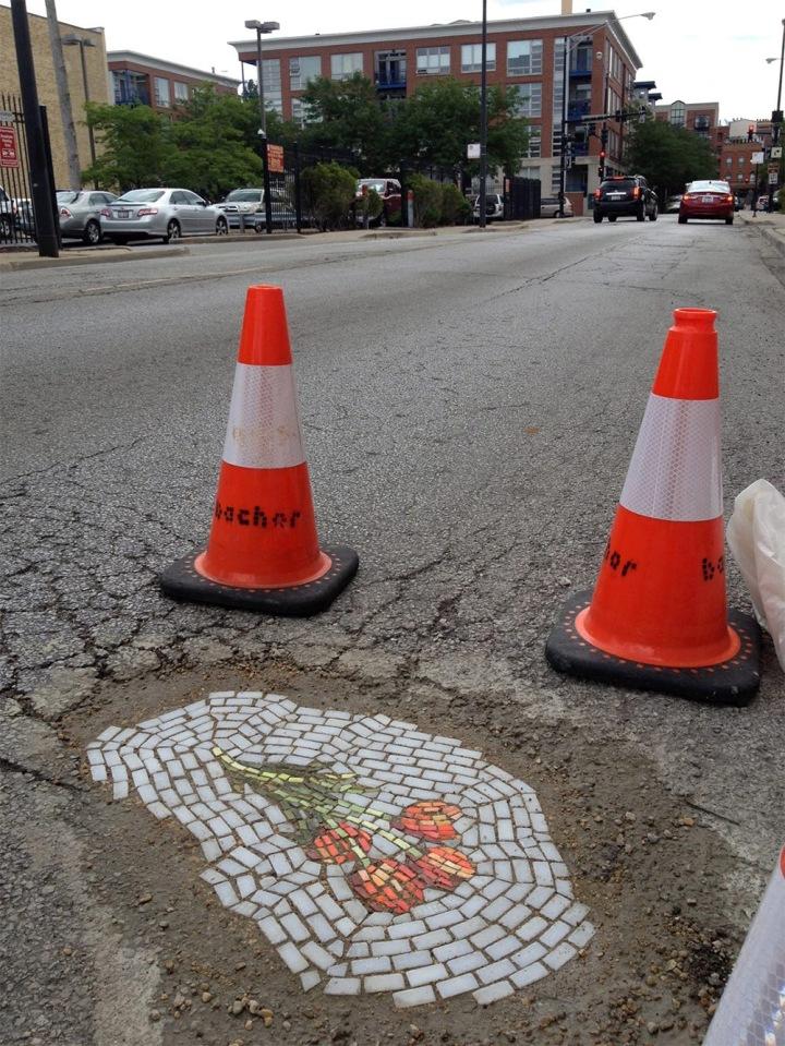 Egy gerilla-mozaik Chicagóból