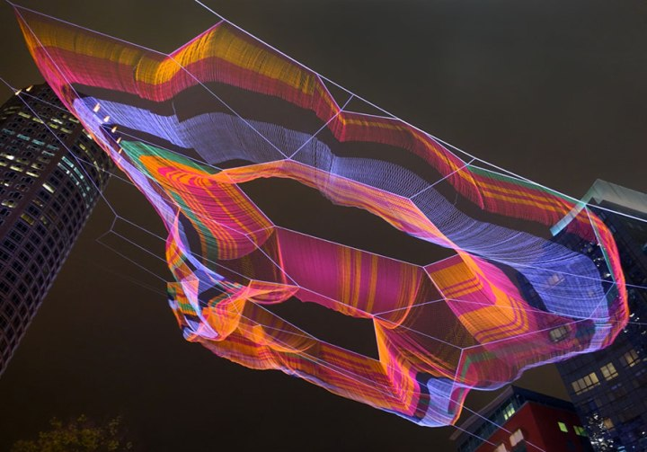Janet Echelman: As if it were already here, 2015, Boston