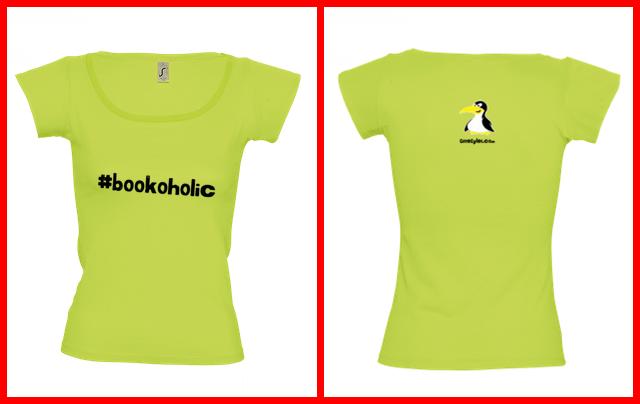 #bookoholic női póló