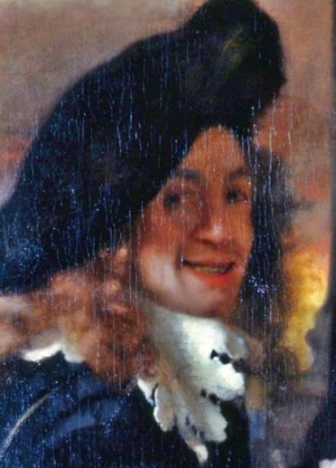 Jan Vermeer van Delft 1632. október 31-én született (részlet A kerítőnő c. festményéből - önarckép?)