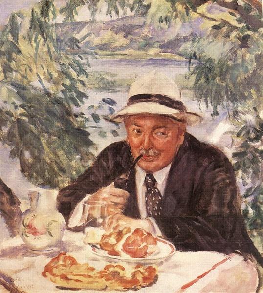 Csók István: Keresztapa reggelije, 1932