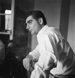 Robert Capa Párizsban 1947 körül.