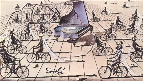 Salvador Dalí: Szentimentális beszélgetés (tanulmány)