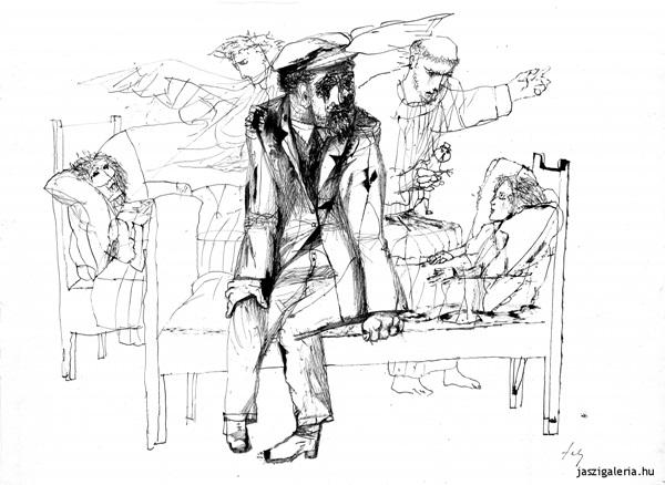 Szalay Lajos: Dosztojevszkij illusztráció (A Karamazov testvérek)