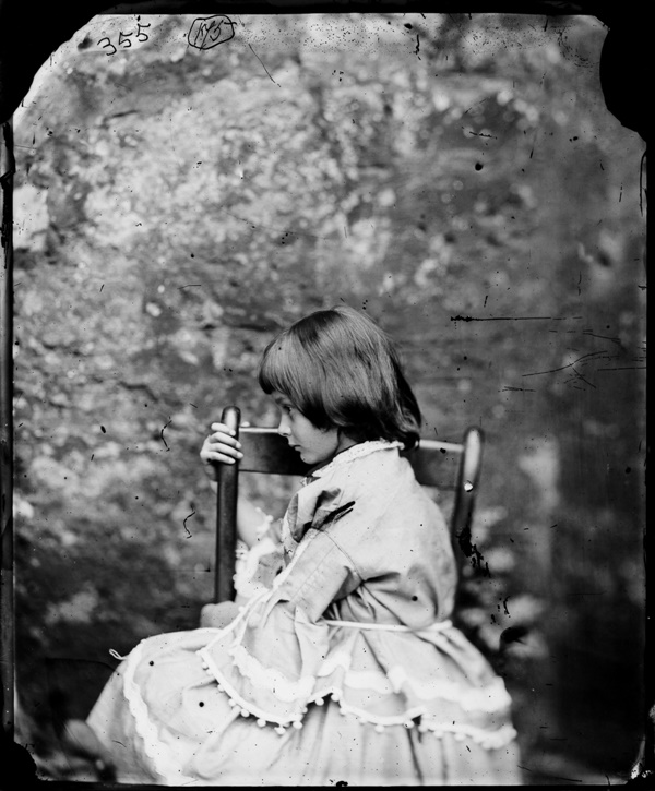 UNITED KINGDOM - MARCH 17:  Alice Liddell in profile, facing right, Summer 1858, by Charles Lutwidge (Lewis Carrol)  (Photo by National Media Museum/SSPL/Getty Images)