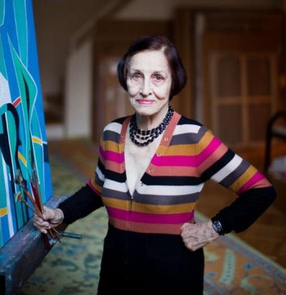 Françoise Gilot a műhelyében 2011-ben (Fotó: Piotr Redlinszkij a The New York Times részére)