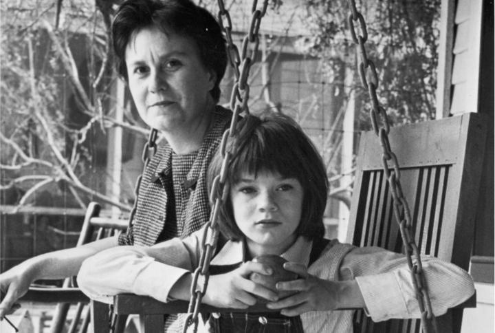 Harper Lee és Mary Badham a forgtáson