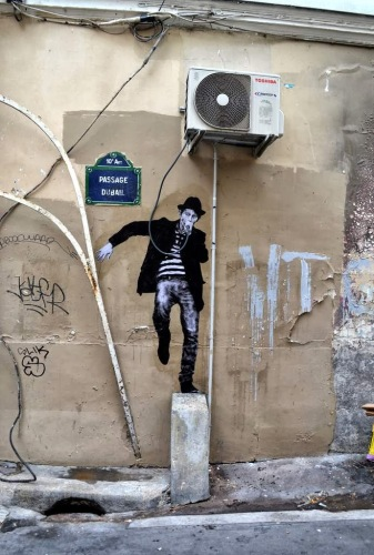 Levalet street art munkája, Párizs