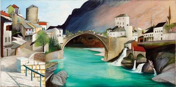 Csontváry Kosztka Tivadar: Római híd Mostarban
