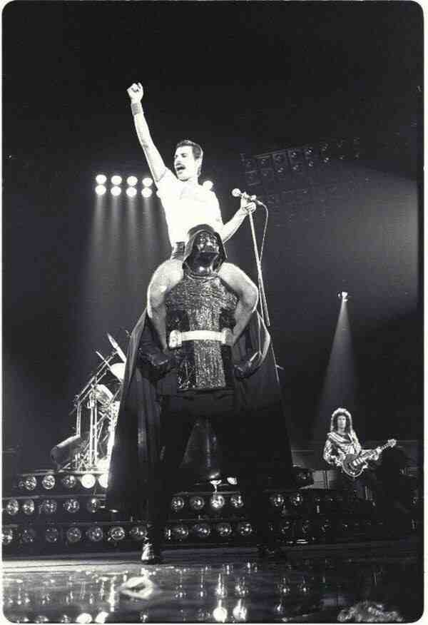 Freddie Mercury & Darth Vader, 1980, Houson, Queen koncert.