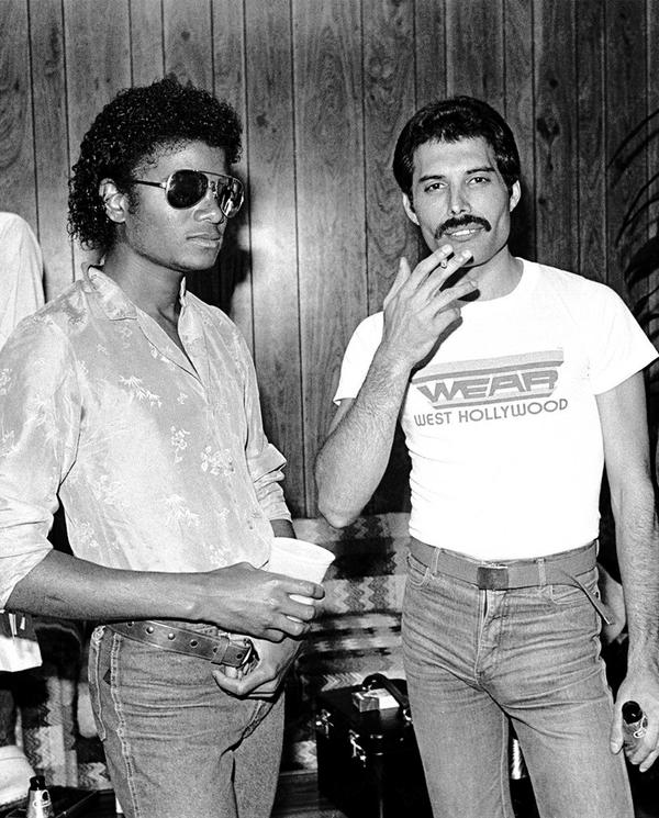 Jacko és Freddie (Michael Jackson és Freddie Mercury) az LA Forum backstage-ében, 1980-ban