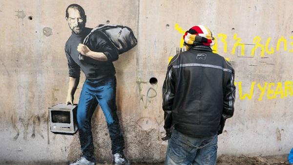 Banksy: Egy szíriai bevándorló fia (kép forrása: banksy.co.uk)