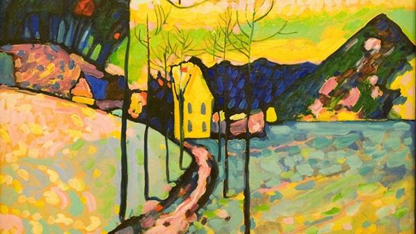 Vaszilij Kandinszkij: Téli tájkép, 1911, Ermitázs, Szentpétervár