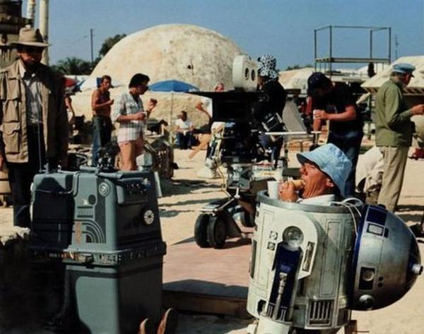 Ebédidő a Star Wars forgatásán, 1977-ben. Sok-sok forgatási képet gyűjötttünk össze EBBEN A CIKKBEN