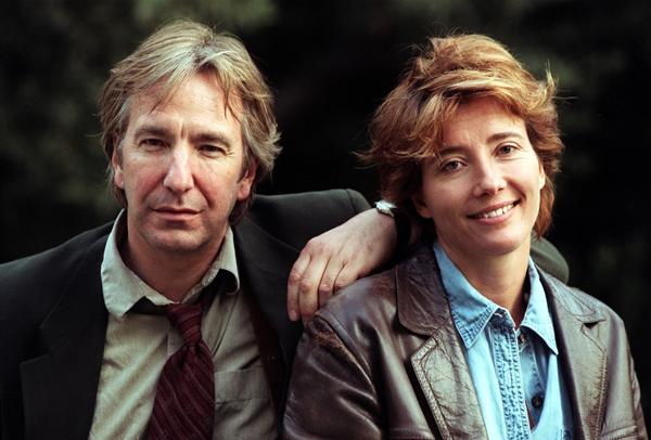 Alan Rickman És Emma Thompson a valóságban is régi barátok voltak. Emma ott volt a halálos ágynál.