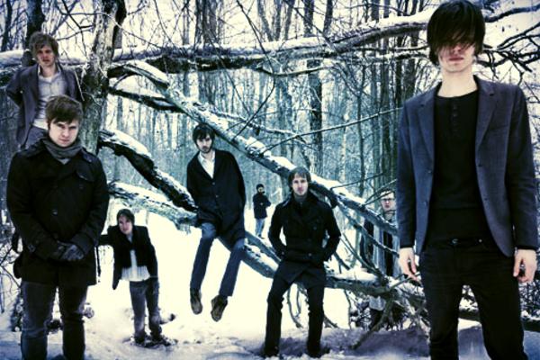 Egy valamire való skandináv metál együttes bizony erdőben fotózkodik: Cult of Luna (Fotó: Hoppening)