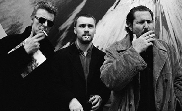 David Bowie, Damien Hirst, Julian Schnabel, New York, 1994