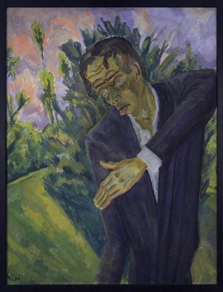 """A gyűjtemény egyik darabja: Erich Heckel - Roquairol, 1917 (A """"Hősök"""" című album borítóját ihlette)"""