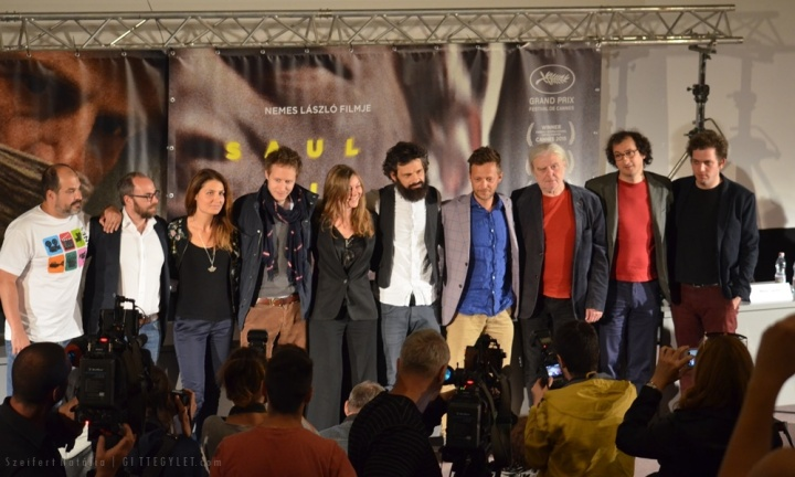 A Saul fia alkotói a 2015. május 28-i budapesti sajtótájékoztatón