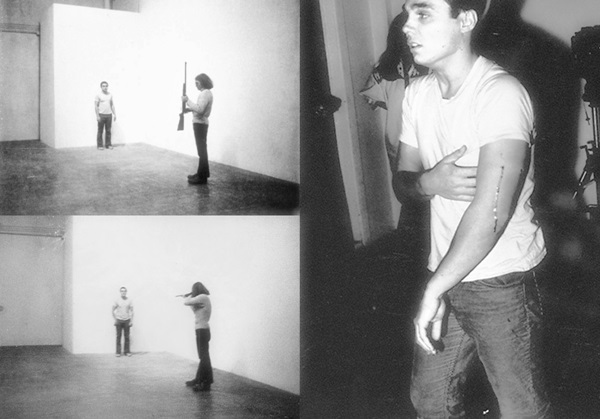 Chris Burden: Shoot (Lövés), 1971 (fotó: openculture.com)