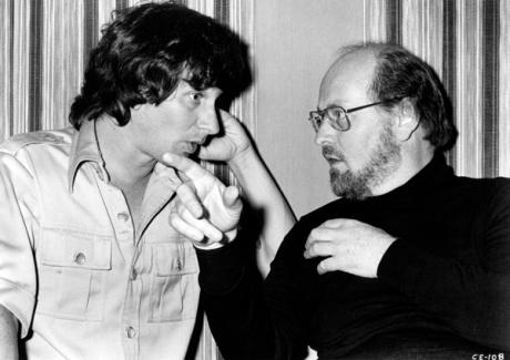 Steven Spielberg és John Williams a Cápa forgatásán