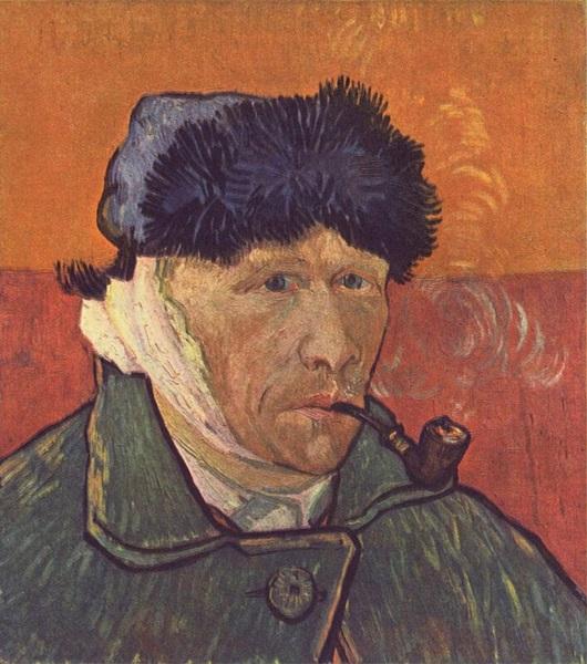 Vincent van Gogh: Önarckép levágott füllel, 1889