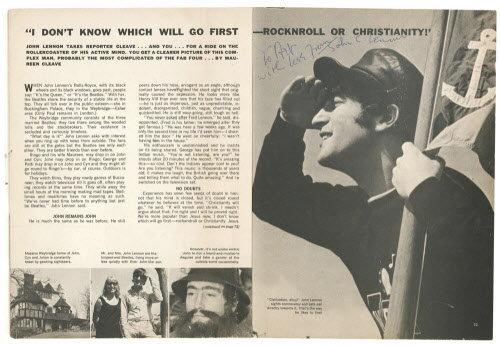 A cikk a Datebook magazinban, 1966