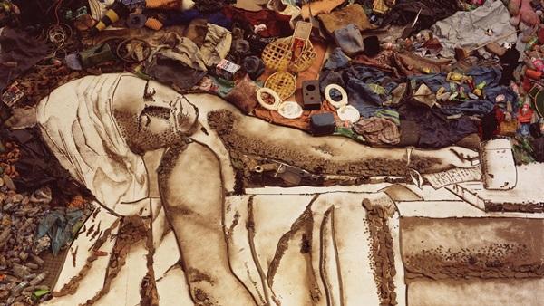 "Vik Muniz: Marat (Sebastião) a ""Pictures of Garbage sorozatból, 2008"