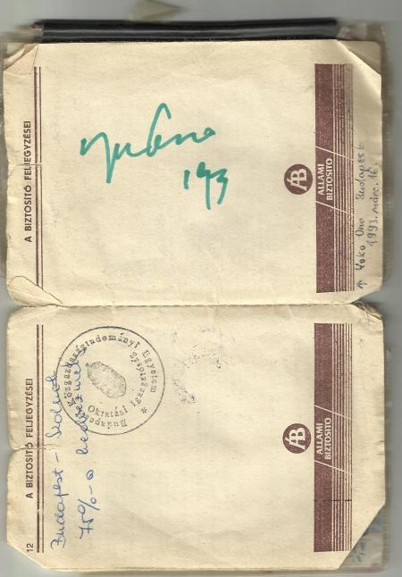 Yoko Ono autogramja a cikkszerző egyetemi diákigazolványán