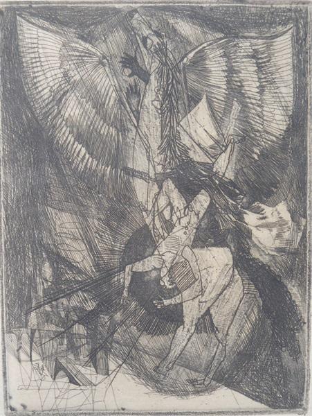 Kondor Béla: Petőfi illusztráció (Ágyban párnak közt halni meg...), 1957 (fotó: Jászi Galéria)