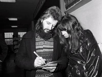 Ringo és Maureen 1972 februárjában, Budapesten, a Liz Taylor 40. születésnapja alkalmából rendezett exkluzív partyn.